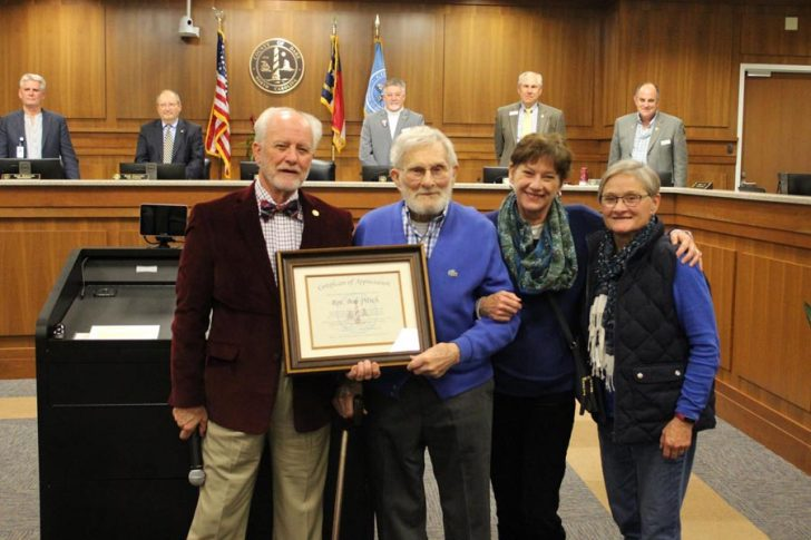 The Reverend Robert Pitsch presented with Certificate of Achievement