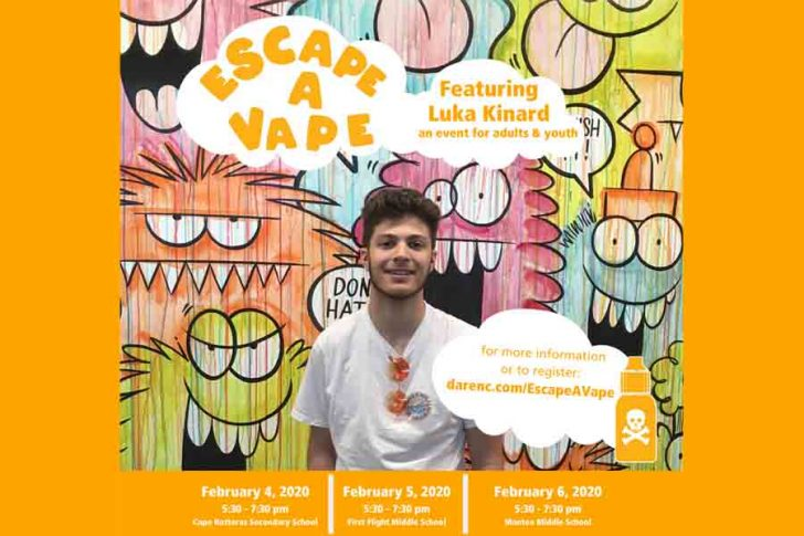 Escape a Vape events to be hosted throughout Dare County
