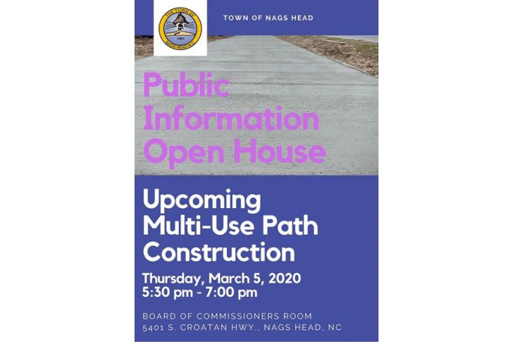 Learn about Nags Head's upcoming multi-use path construction at a March 5 Open House
