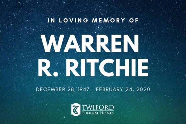 Warren Richard Ritchie of Ocracoke, February 24
