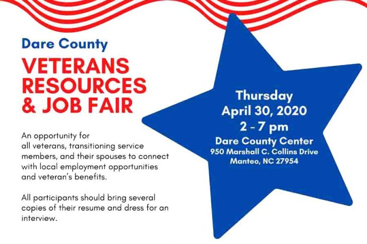 April 30: Dare County Veterans Resources and Job Fair Planned
