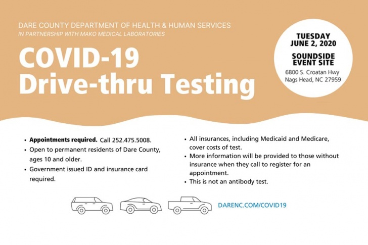 Dare sets second drive-thru testing event on June 2