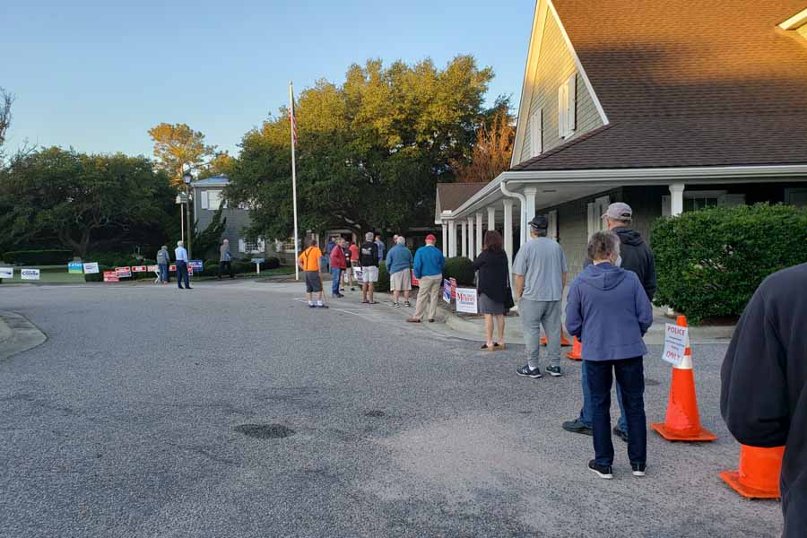 Voting in Dare County on record pace