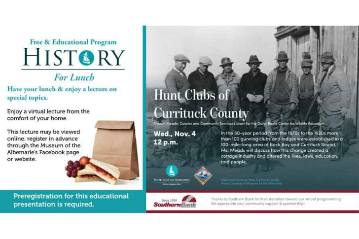 History for Lunch: Hunt Clubs of Currituck County