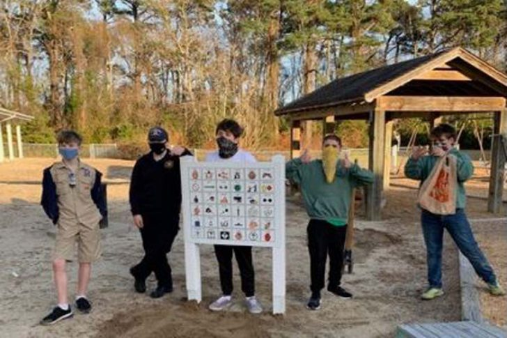 David Meggs's Eagle Scout project for Kitty Hawk Elementary playground